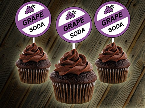 12 GRAPE SODA UP MOVIE THEME Inspired Party Picks, Cupcak...