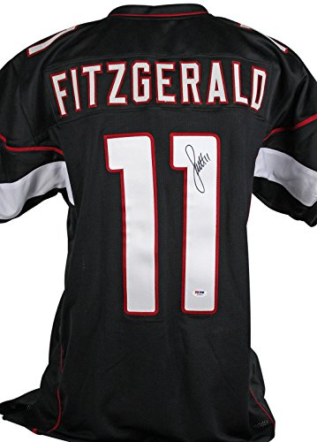 Fitzgerald Jersey Larry (Cardinals Larry Fitzgerald Authentic Signed Black Jersey Autographed PSA/DNA)