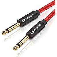 """LinkinPerk 6,35 mm tot 6,35 mm mono audiokabel, 1/4 """"TS professionele luidsprekerkabel voor elektrische gitaar, bas…"""