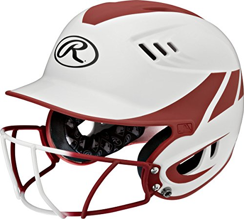 Rawlings Sporting Goods Junior Velo Sized Softball Helmet, White (Cardinal Batting Helmet)