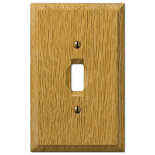 (AmerTac 4025T Traditional Light Oak Wood Wall plate)