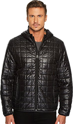 Levi's® Men's Nylon Box Quilted Hoodie Black Medium Box Quilted Jacket