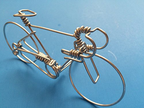 Handcrafted Mens Road Bike Medium ~ Unique Biking Gifts for Cyclists ~ Handmade Bicycle Ornament with One Whole Aluminum Wire w/ No Single Break