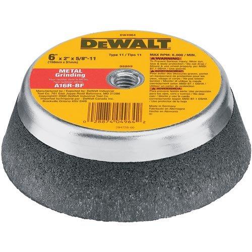 DEWALT DW4962 5-Inch by 2-Inch T11 Metal Grinding Wheel
