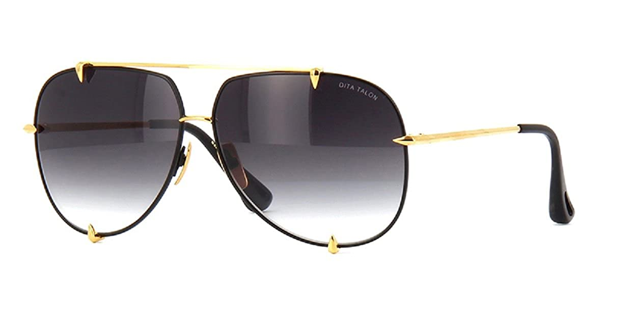 44ff74a640d Dita Talon Aviator Sunglasses 23007 Gold brushed frame with Grey Gradient  Lens  Amazon.co.uk  Clothing
