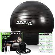Oziral Stability Exercise Ball 55cm Yoga Balance Ball Extra Thick Ball Chair Fitness Yoga Pilates Anti-Slip Bi