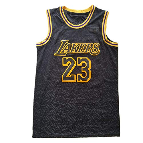 Sigeer 2018-2019 Youth Fast Break Lebron Lakers Replica Jersey Black - Statement Edition (L)