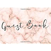 Guest Book: Pink & Gold Marble Guest Book for Weddings, Parties, Showers & More