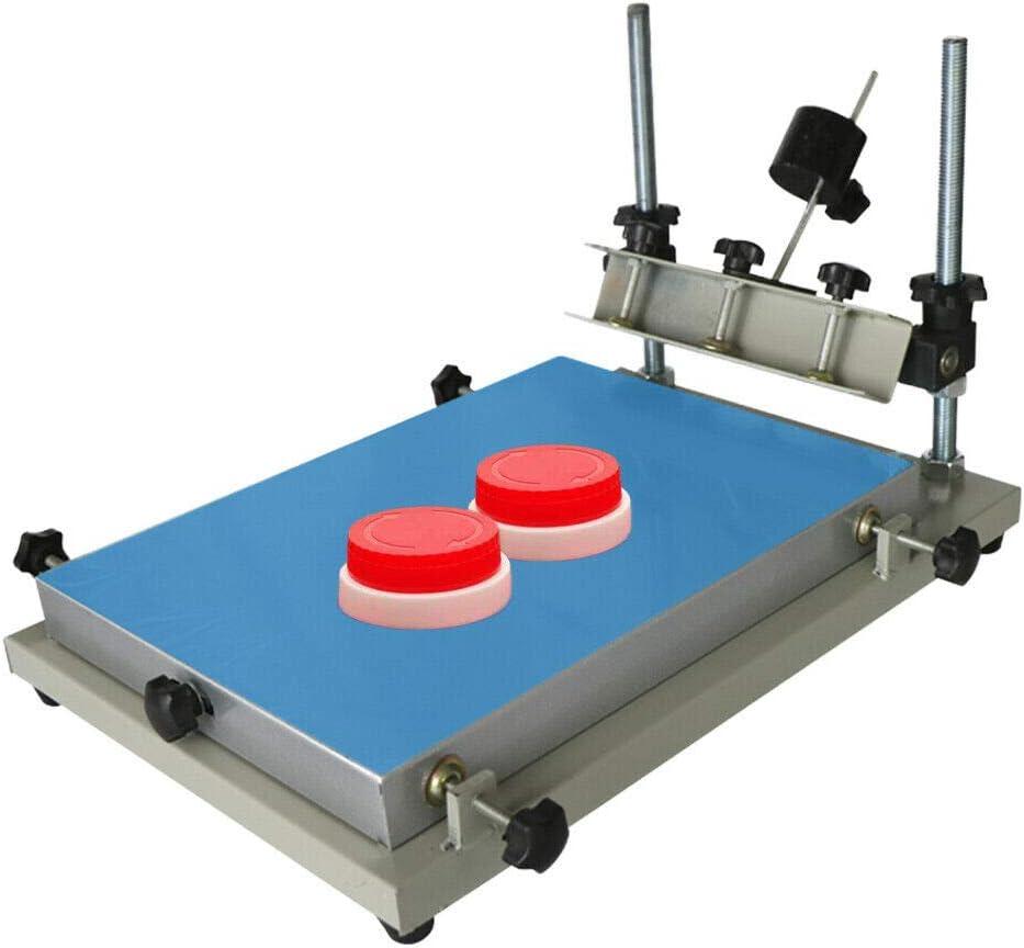 300x240 mm Impresora de pasta de soldadura manual, impresora de plantillas PCB SMT, tabla de impresión de planchas precisión mantenida 0-120 mm ajustable