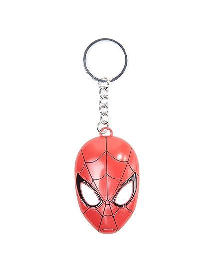 Spiderman Mask Llavero Rojo: Amazon.es: Ropa y accesorios