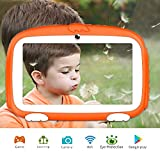 Kids Tablet, Tablet for Kids 7 inch Kid-Friendly Parental Control Kids Tablet with WiFi Learning Games Apps Dual Cameras Kids Mode Pre-Installed Android 1G+8G Tablet 1024x600 HD Display Safety Screen...