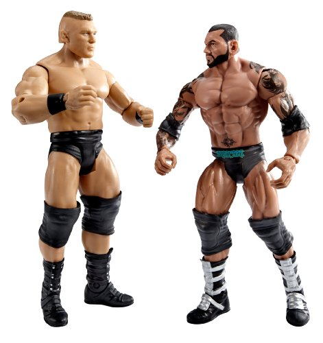 WWE WrestleMania Fantasy Match-Up Brock Lesnar and Batista Action Figure, 2-Pack ()