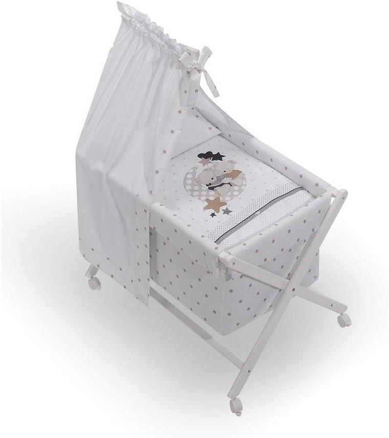 INTERBABY - Minicuna Dosel Amorosos Beige con Textil
