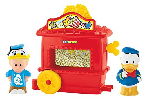 Fisher-Price Little People Eddie and Donald Duck Popcorn Stand