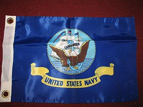 12x18 US Navy USN Seal Emblem Crest Double Sided Solarmax Nylon Car Boat Bike Flag 12x18 Outdoor Banner, Model: , Sport & -