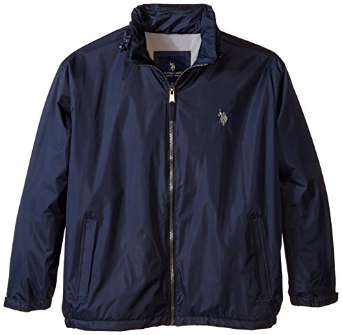 U.S. Polo Assn. Men's Big-Tall Hidden Hood Windbreaker, C...
