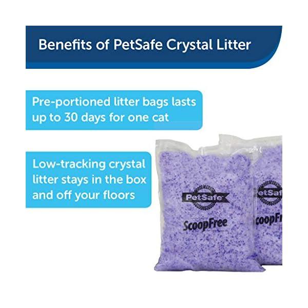 PetSafe ScoopFree Premium Crystal Non Clumping Cat Litter, 2-Pack 2