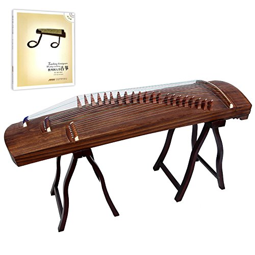 OrientalMusicSanctuary Professional ALL-Paulownia Travel Guzheng - Tang Dynasty Design - Travel Sized Guzheng - INCLUDES ENGLISH TUTORIAL BOOK WITH DVD by OrientalMusicSanctuary