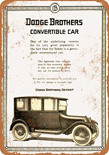 Wall-Color 9 x 12 Metal Sign - 1919 Dodge Brothers Convertible Car - Vintage - Car Brothers Dodge