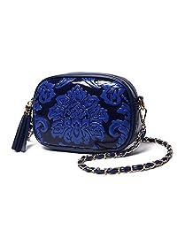 GUGGE Womens Summer Handbags National Style Flowers Tassel Chain Shoulder Bag