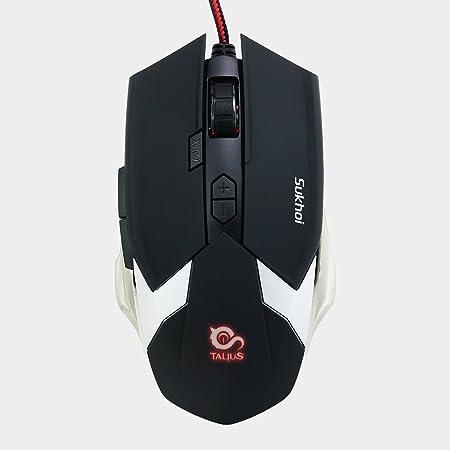 Talius Sukhoi - ratón Gaming programable, 2500DPI, 8 Botones, iluminación LED, Estructura Metal