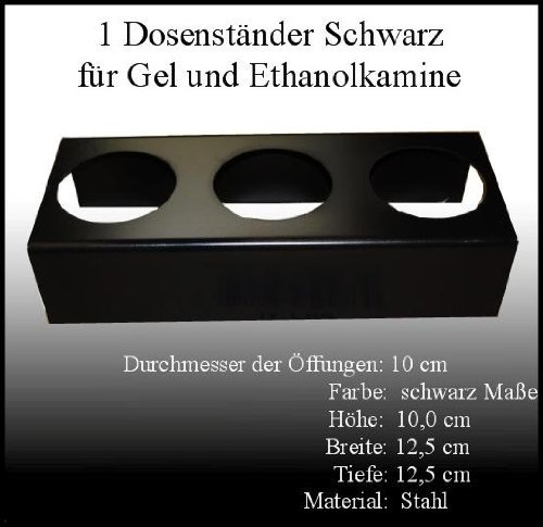 Fireplaces Manufacturer Mierzwa (DF-Shopping, Germany) Black Metal Stand For 0.5 Litre Ethanol Fuel Cans