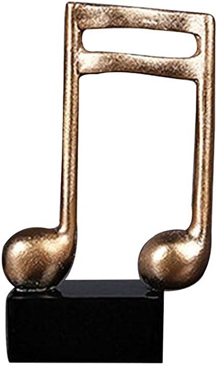 Healifty Adorno de Escritorio Nota Musical Resina Figura ...