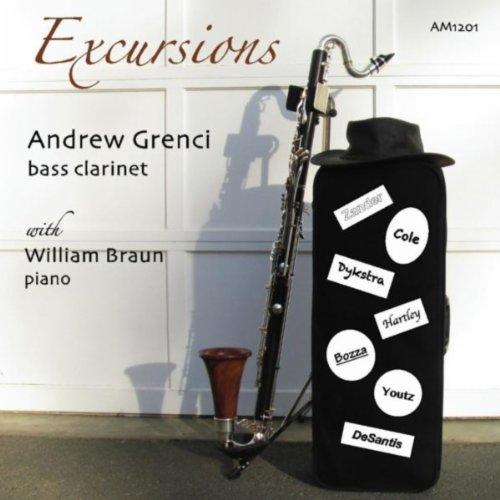 Zander, Cole, Dykstra, Hartley, Bozza, Youtz, DeSantis: Excursions for Bass Clarinet (Bass Classical Clarinet)