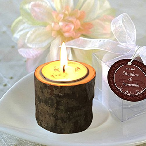 Price comparison product image Iulove Rustic Wooden Candle Holder Tea Light Holder Home Party Bar Stable Decoration