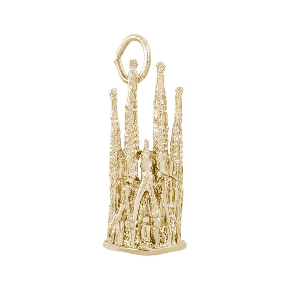 Rembrandt Charms Barcelona Cathedral Charm, 14K Yellow Gold