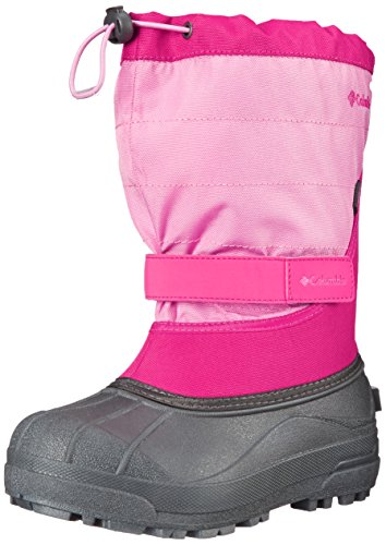 Columbia Youth Powderbug Plus Winter Boot (Little Kid/Big Kid), Glamour/Orchid, 2 M US Little Kid