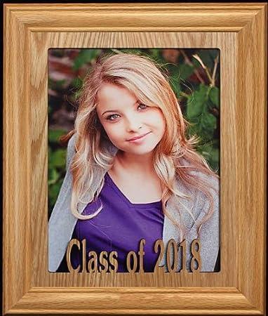 Amazon.com - 8x10 Class of 2018 Picture/Photo Frame Solid Oak School ...