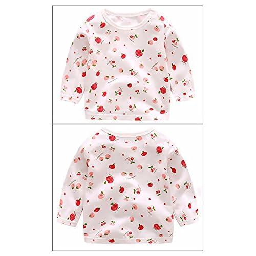 3 Pcs Vêtements Suite Bébés Filles T Shirt Manches Longues Dessins