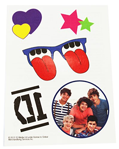 One Direction Assorted Design Temporary Tattoos (Tongue