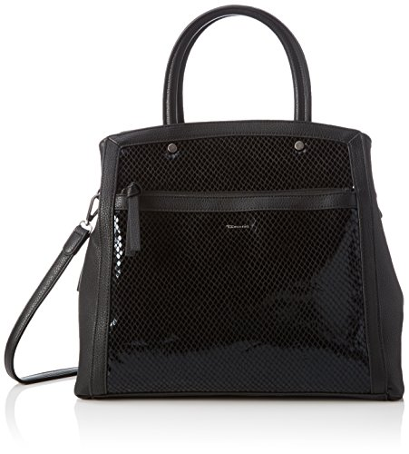 Tamaris Jimmy Boston Bag - Bolso con Asas Mujer Schwarz (Black Comb 098)