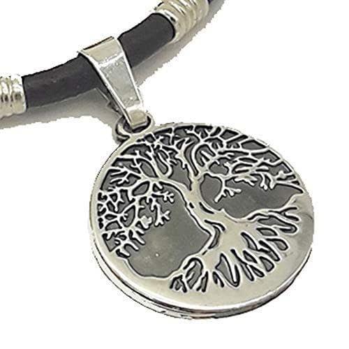 Colgante árbol de la vida en plata - Colgante para mujer -amuleto de la vida- Collar árbol de la vida