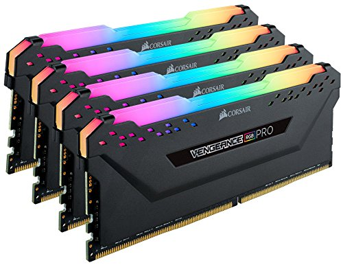 Corsair Vengeance RGB PRO 128GB (4x32GB) DDR4 3600 (PC4-28800) C18 Desktop Memory – Black