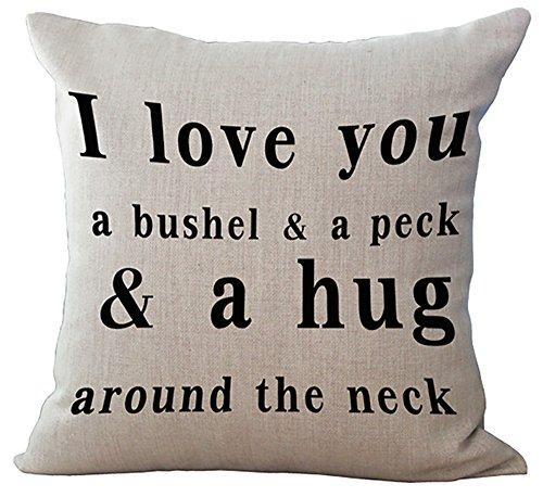 LivebyCare Wisdom Words Printed Stuffed Cushion Linen Cotton