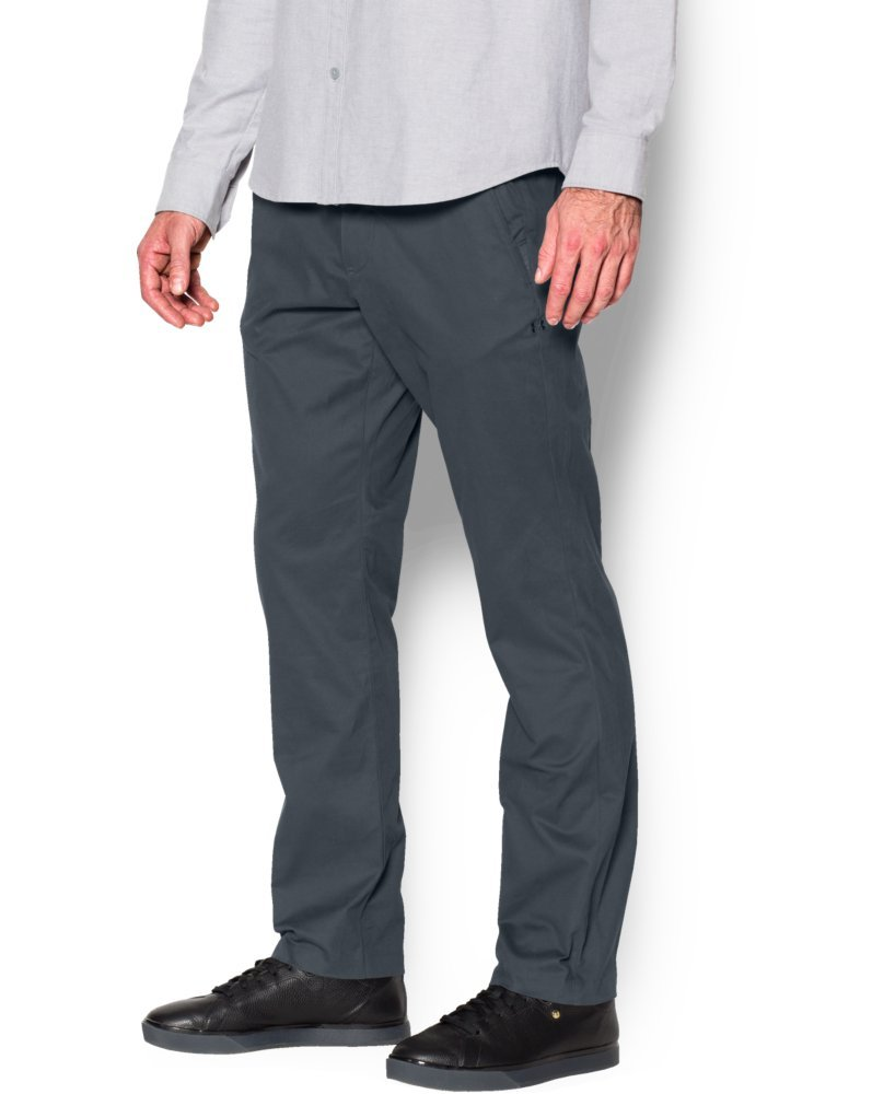 Under Armour Men's Performance Chino – Tapered Leg, Stealth Gray /Stealth Gray, 30/30
