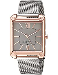 Womens Rose Gold-Tone and Silver-Tone Mesh Bracelet Watch