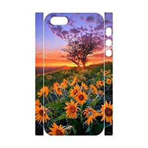 Sunflower 3D-Printed ZLB588666 Personalized 3D Cover Case for Iphone 5,5S