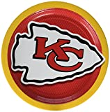 Amscan Kansas City Chiefs Lunch Plates NFL Football Party Disposable Tableware Supplies (48 Piece), 9''