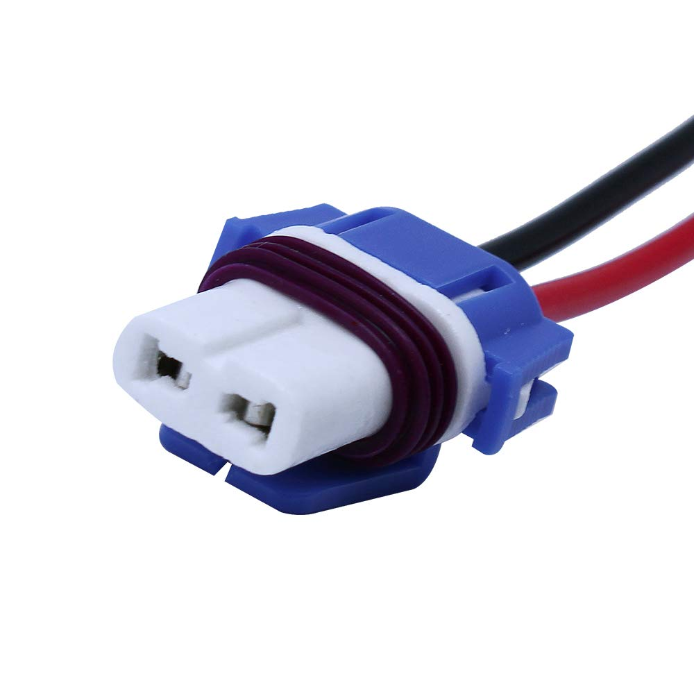 HUIQIAODS 2PCS 9006 HB4 Ceramic Female Socket Adapters Wiring Harness For Headlights Fog Lamps