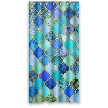 Curtains Ideas 36 wide shower curtain : Amazon.com: Beautiful Girls Shower Curtain - Hotstyle Blue, Aqua ...