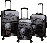 Kemyer 788 Vintage World Series Lightweight 3-PC Expandable Hardside Spinner Luggage Set (New Venice)