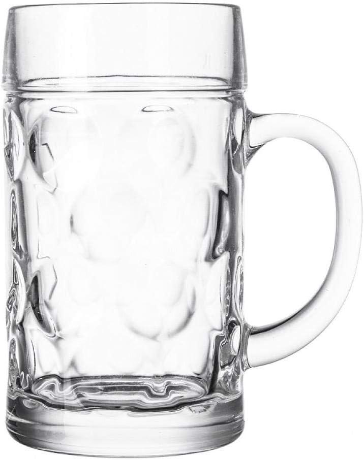 Jarras De Cerveza Vasos De Cerveza Cerveza De Vidrio Cerveza Engrosada 1.2L De Gran Capacidad De La Correa Del Hogar Bar Vino Cocina Leche Bebida,Jarra De Cerveza 1200Ml