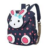 Gosear Unisex Kids Baby Cute Cartoon Rabbit Schoolbag School Kindergarten Travel Outdoor Bag Backpack Blue