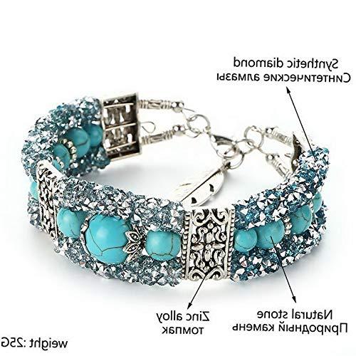 Monowi Wholesale Fashion Women Turquoise Cuff Charm Bangle Bracelet Earrings Jewelry | Model ERRNGS - 18437 |