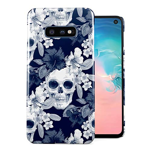 Tropical Floral Pirate Skulls Pattern Indie Hype Hipster Rad Tumblr Plastic Phone Snap On Back Case Cover Shell Compatible with Samsung Galaxy S10e]()
