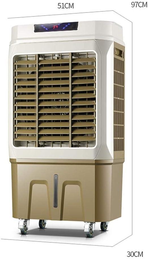 Ventilador De Aire Acondicionado Enfriador De Aire Evaporativo Purificador De Humidificador 50L DepóSito De Agua 4 Ajuste De Velocidad del Viento Cuarto De Enfriamiento para 30~60㎡: Amazon.es: Hogar